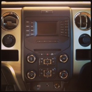 Ford F-150 console