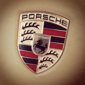 Porsche badge steering wheel
