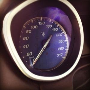 Maserati Ghibli speedometer