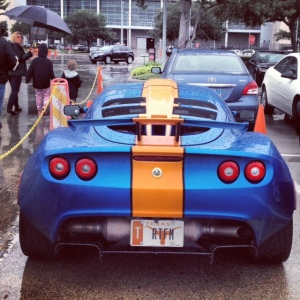 Lotus Elise blue orange 2