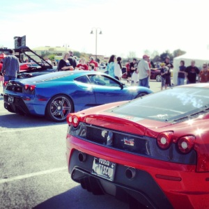 Ferrari blue red