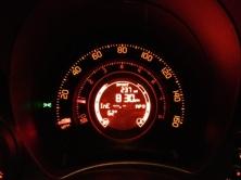 Abarth speedometer night